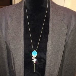 Jewelry - Beads, birds, butterfly and flowers necklace